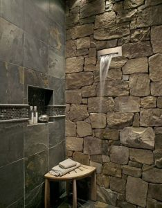 Earth multi color slate gauged tile waterfall showerindoor waterfallwaterfall faucetbeautiful bathroomsremodeling ideasbathroom also natural stones and india rh pinterest