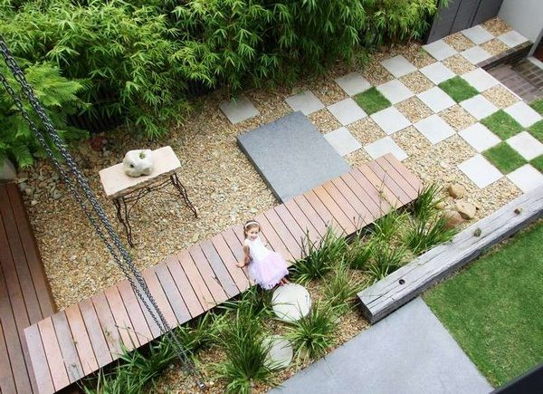 Bamboo Small Garden Gravel Paving Stones Garden Outside