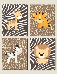 Jungle Theme Decor Jungle Animals Wall Art Nursery Art ...