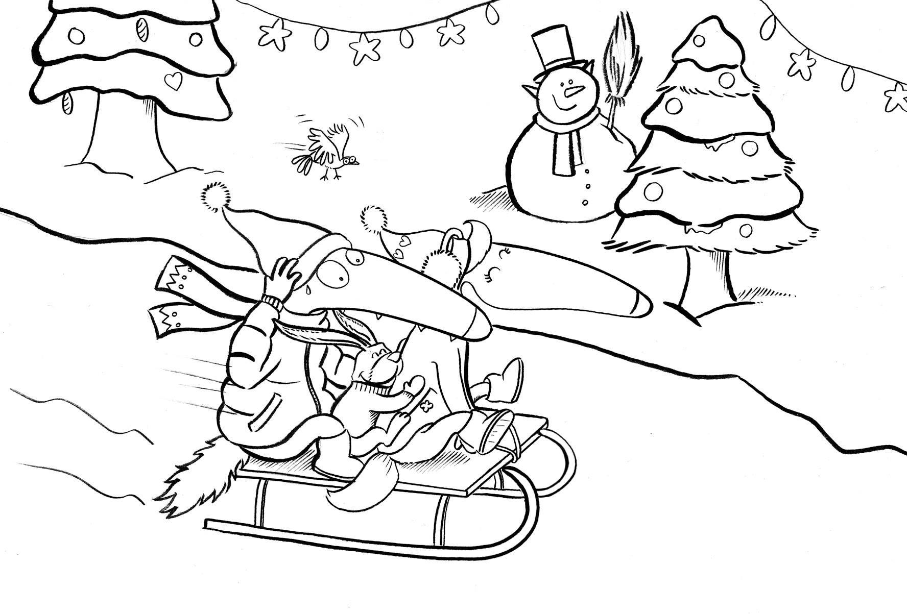 Loup Joyeux Noel A Tous