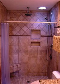 tiled shower stalls pictures   Shower Stall with Porcelain ...