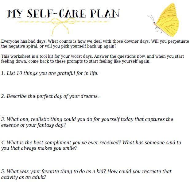 Best 25+ Self care worksheets ideas on Pinterest