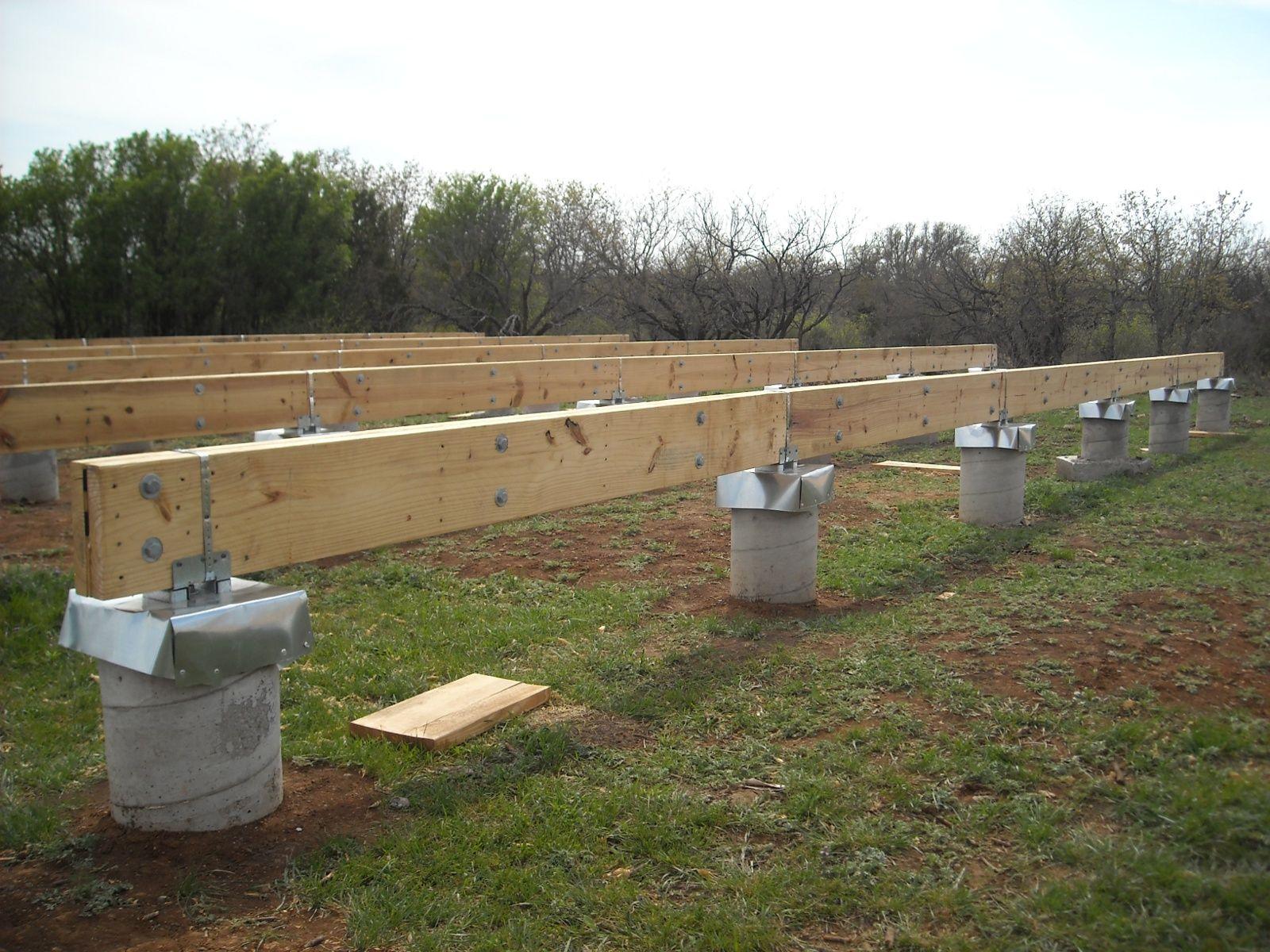 Concrete pillar foundations for Post and pillar foundation
