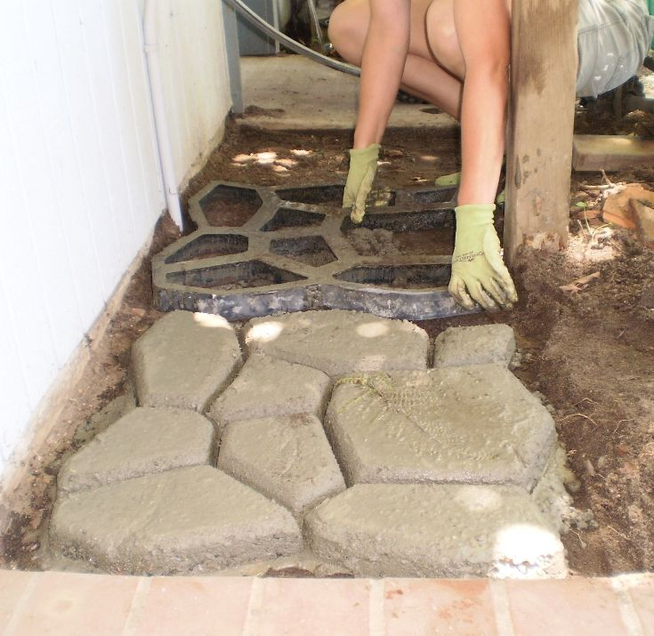 Using Concrete Paving Forms To Create Paths And Patios They're