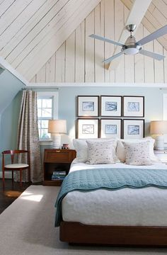 Lovely Blue And White Cottage Bedroom #home #decor Bedrooms