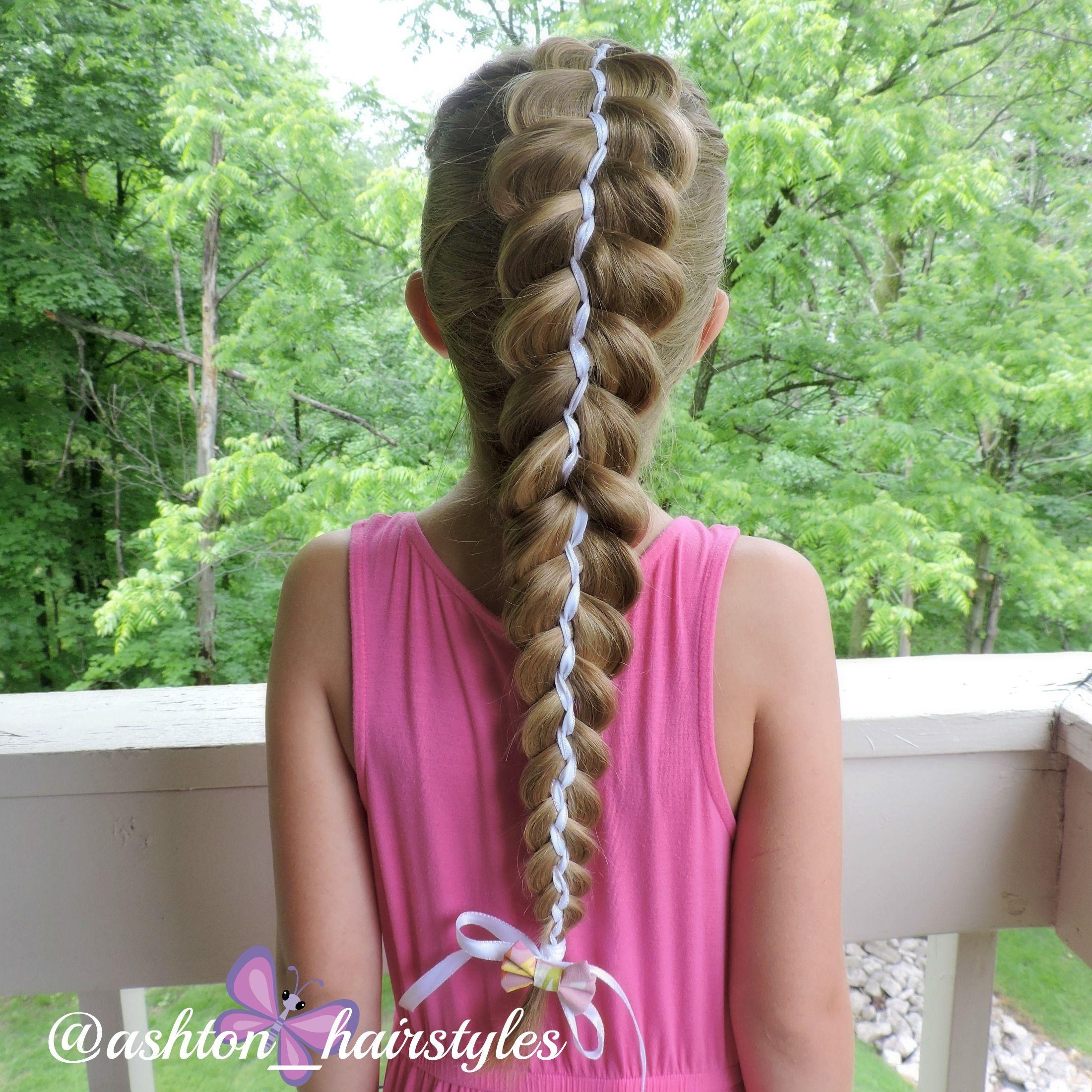 5 strand ribbon braid Ashton hairstyles Pinterest