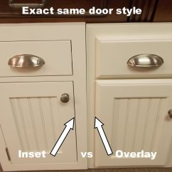 Kitchen Cabinet Manufacturers List 4 Stool Island Inset Cabinets Beaded Vs Plain