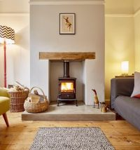 Wood Stove Living Room Design - [peenmedia.com]