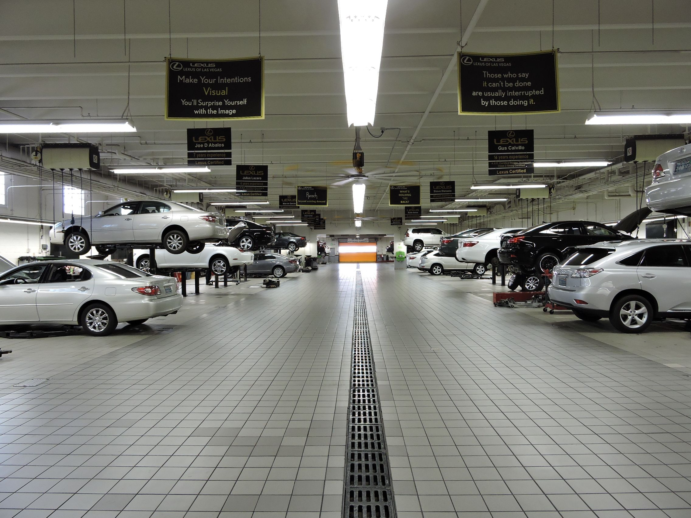 Lexus of Las Vegas inside the service garage