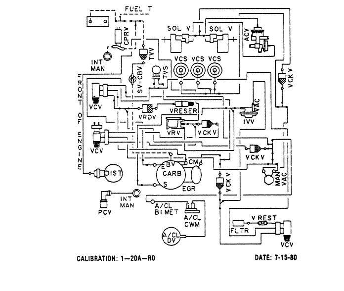 ford 5 8 engine vacuum diagram 1980