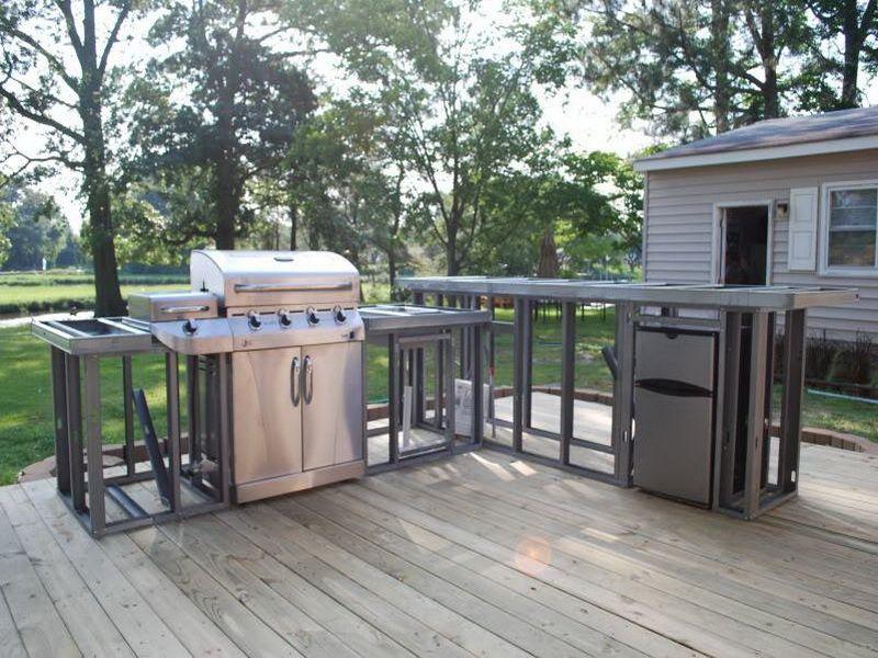 outdoor kitchen plans diy  Backyard  Pinterest  Wood