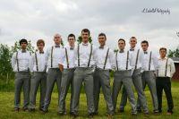 groomsmen, bow ties, suspender straps, handsome! | Wedding ...