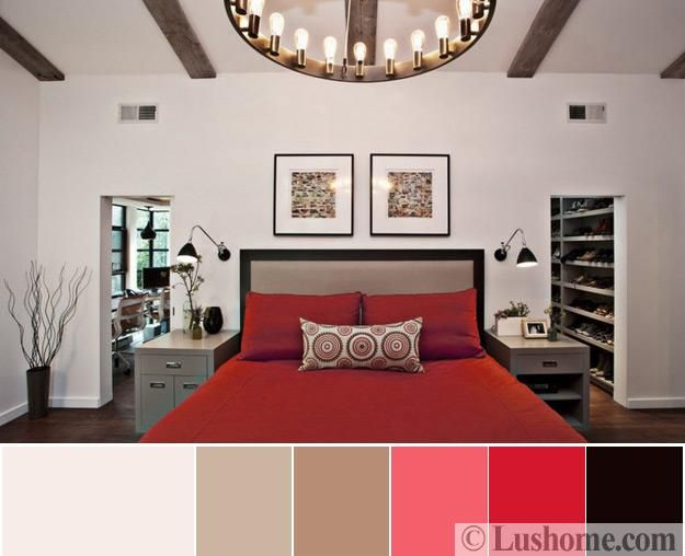 Modern Interior Design Color Schemes Beige And Red Colors Of