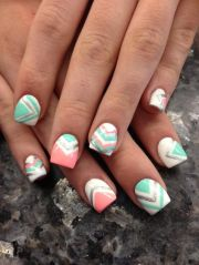 pink & teal chevron - trends