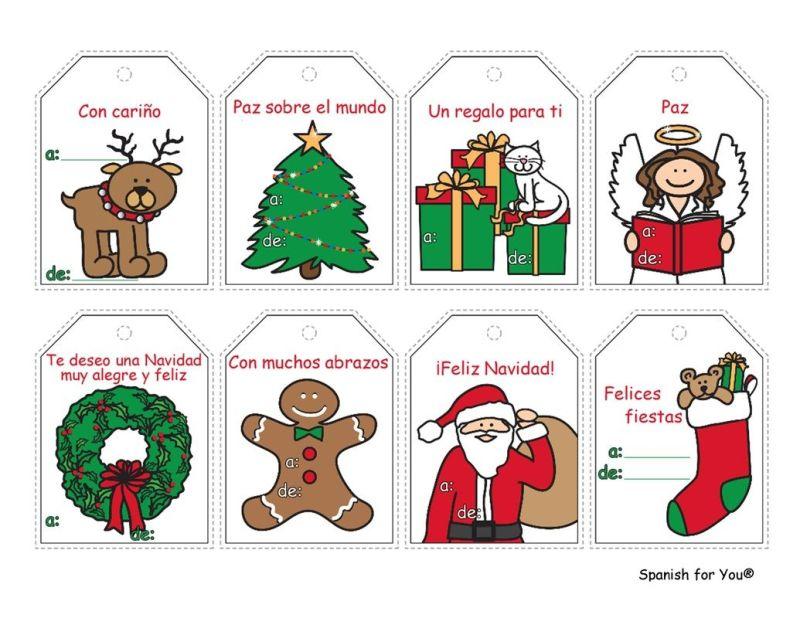 Free spanish christmas gift tags just print on card