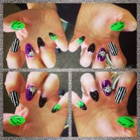 My stiletto nails from Halloween 2013 | nails | Pinterest ...
