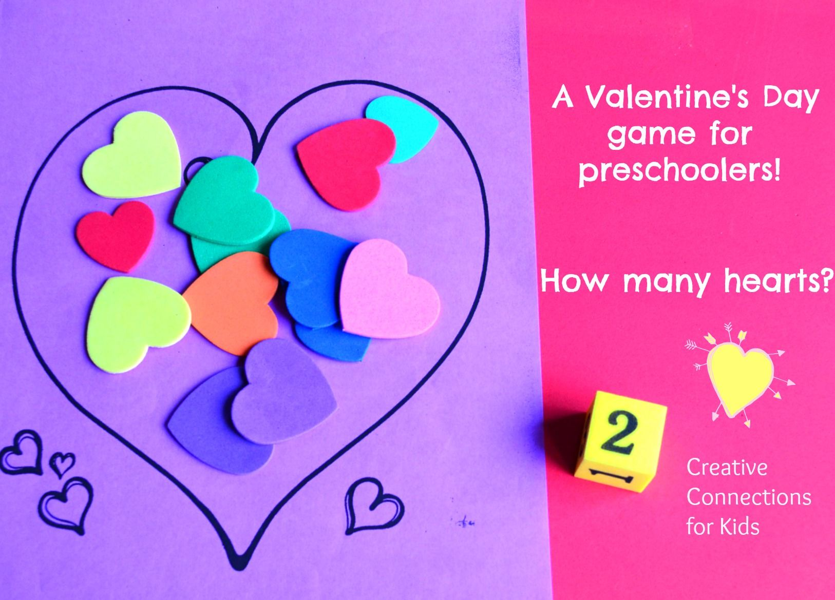 A Valentine S Day Math Game For Preschoolers