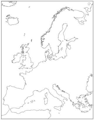 Europe outline maps, fab idea for colouring and