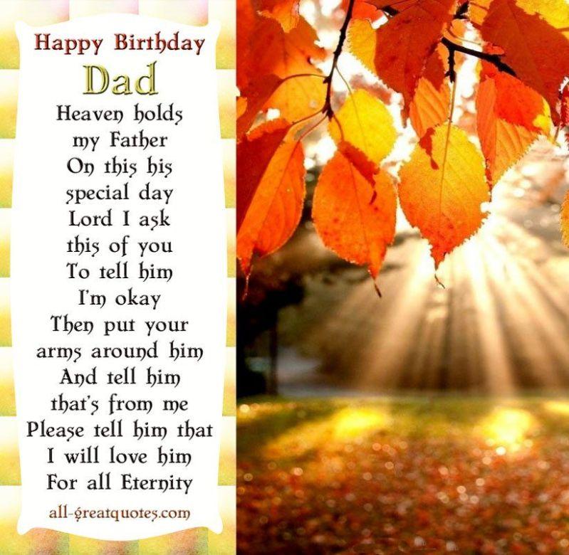 Deceased dad quotes from daughter happybirthdaydad