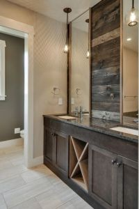 Rustic Master Bathroom with Undermount sink, Simple ...