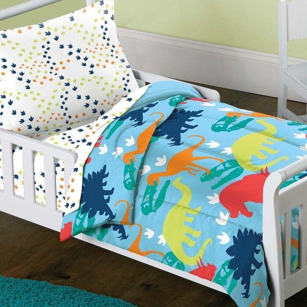 Dinosaur Prints 4 Piece Toddler Bedding Set Gift Ideas