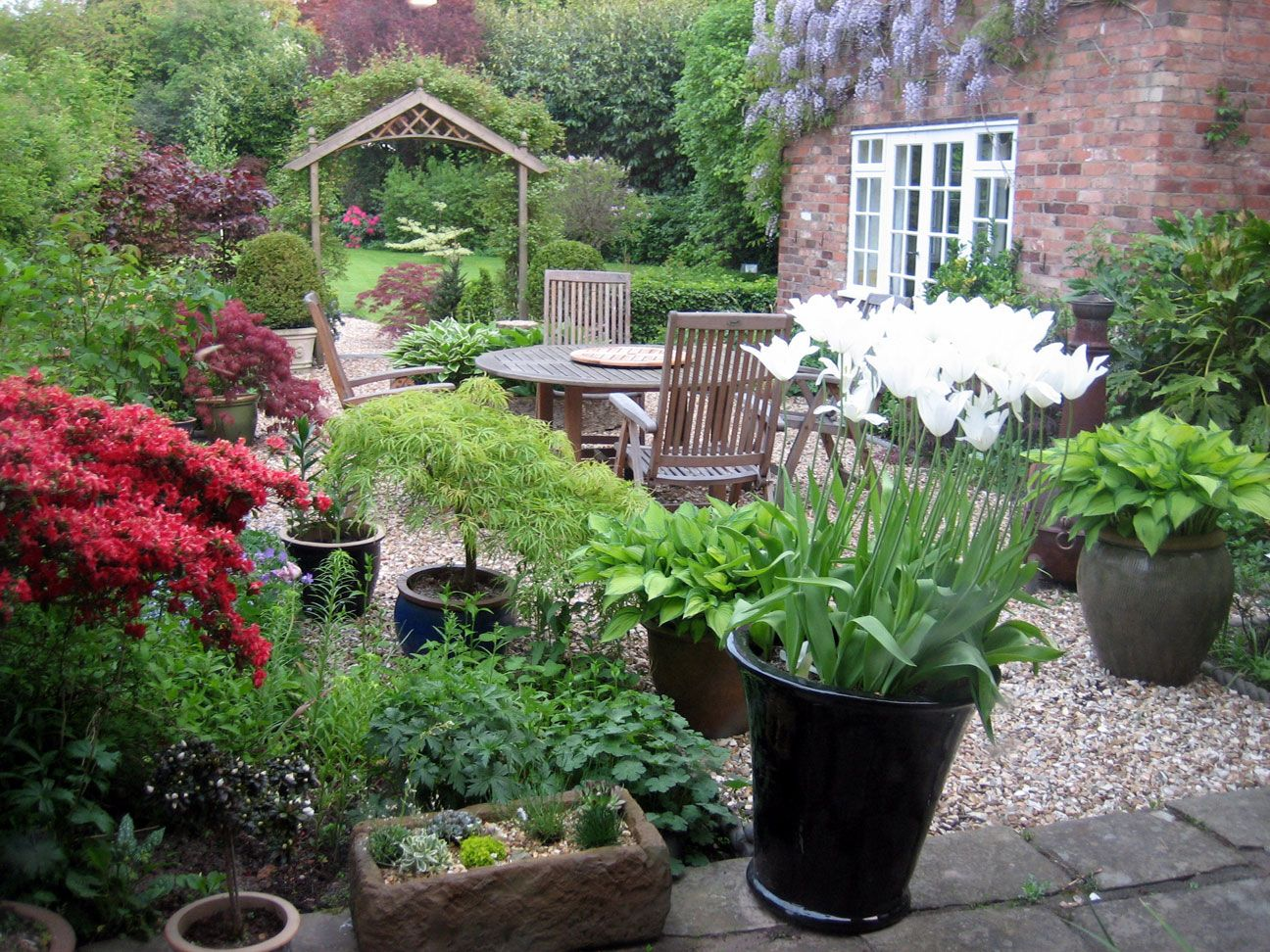 Small Courtyard Traditional Courtyard Garden Design Style And