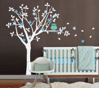 Baby Nursery Vinyl Wall Decals Tree and Owl Wall Decal by ...