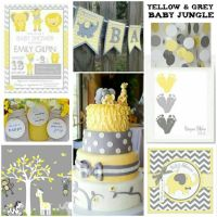 Yellow and Grey Baby shower with Chevron Accents - Baby ...