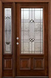 front door with sidelights | ... Doors with One Sidelite ...