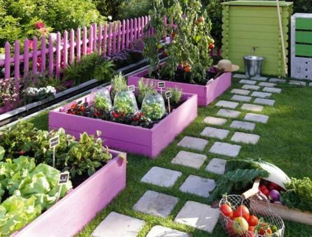 Update Your Raised Beds With Bright Paint Makes Your Gardens Look