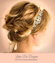 1920s bridal ribbon headband gatsby