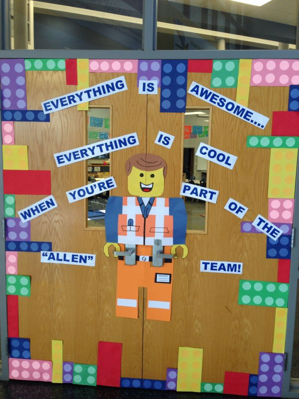 Lego Movie Door. Awesome Bulletin Boards