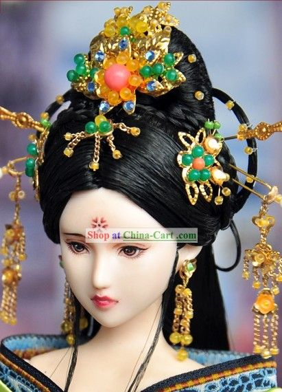 Ancient Chinese Princess Hair Accessories And Wig Jade Palace