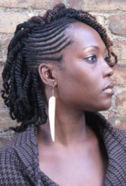 two toned nubian twists braided