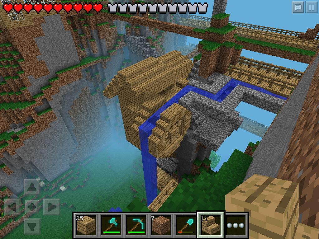 W2 Small Cliff Mill Minecraft PE My Minecraft Pinterest