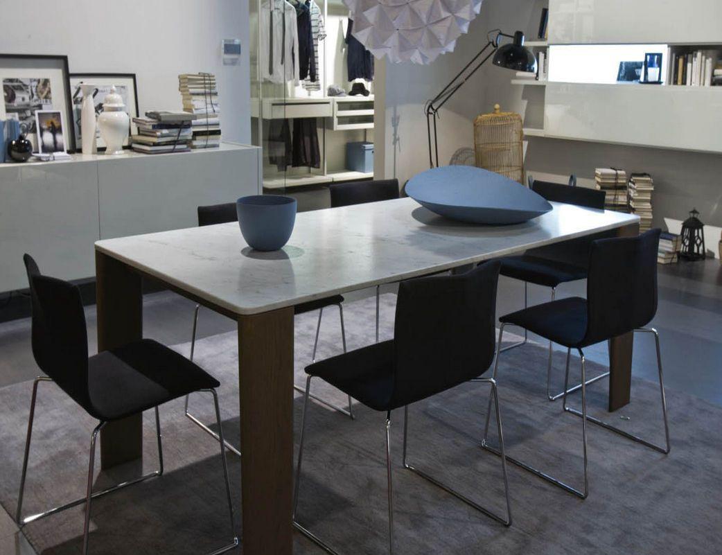 Mesa de comedor  moderna  de mrmol  de interior KEEL