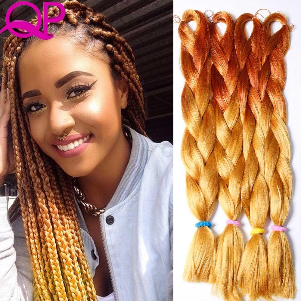 ombre braiding hair two tones ombre kanekalon braiding