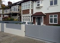front boundary wall screen automated electronic gate ...