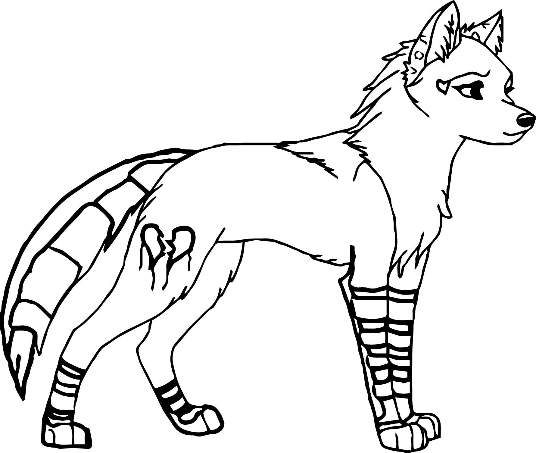 Nice Female Wolf Coloring Pages