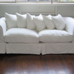 Beach House Sofa Slipcover Teal Coloured Sofas White Fabric Couch Covers Slipcovers Pinterest