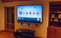 "80"" Sharp LED TV wall mounted with Boston Acoustic ..."