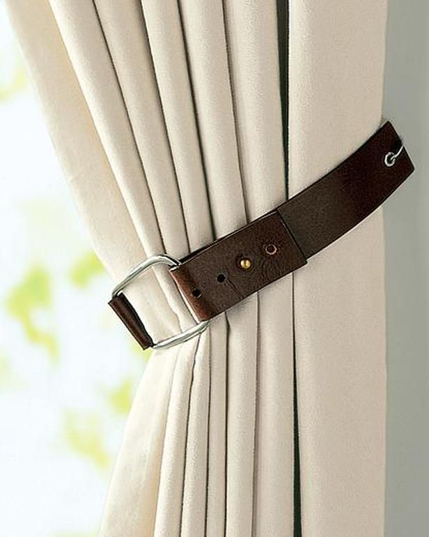 Window Treatment Leather Belt Tie Back I Like The Unlimited