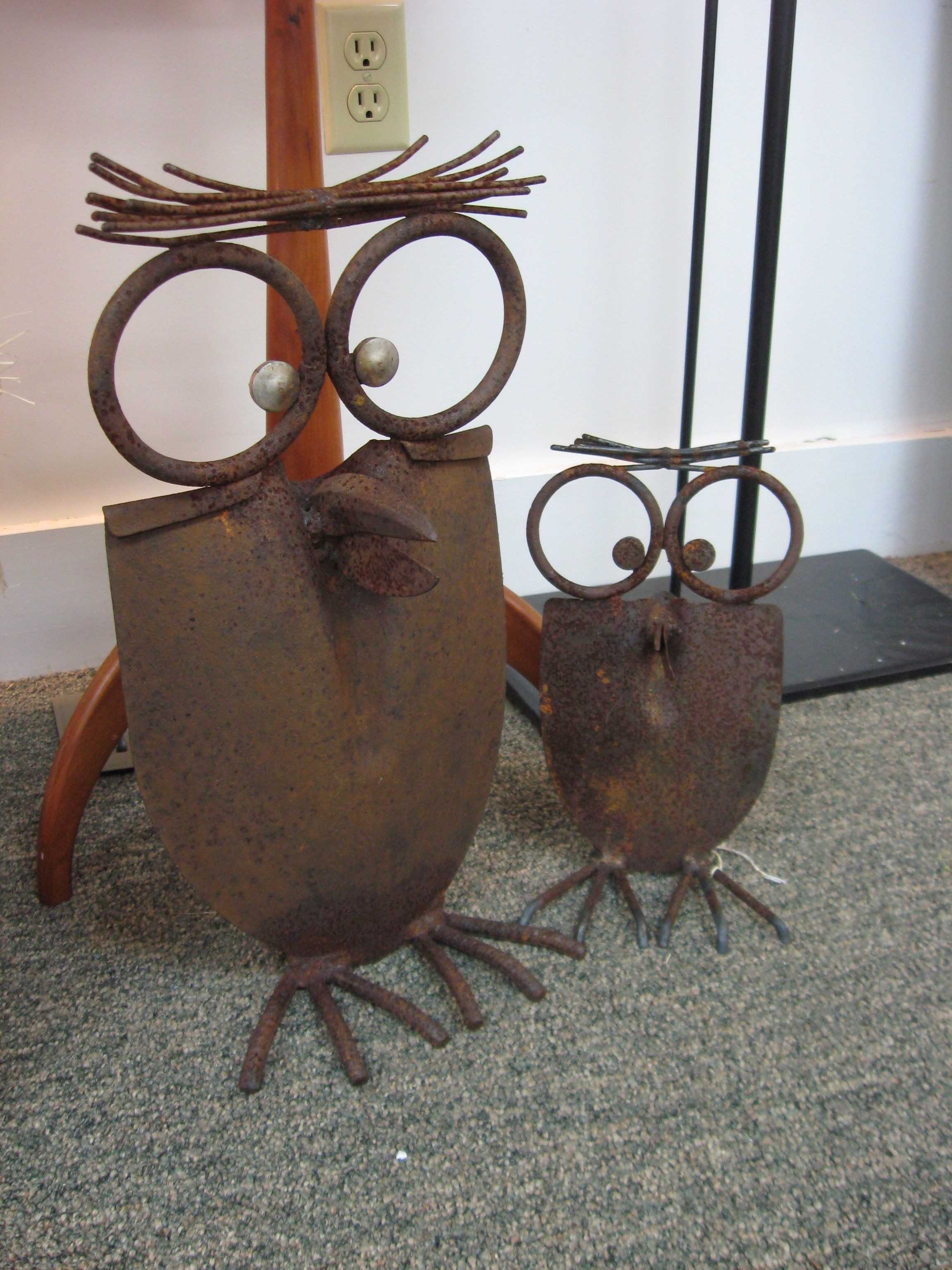 Owls I Have To Get These Made For The Garden So Cute Welding