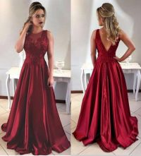 Burgundy Prom Dress,2018 Prom Dresses,Long Evening Gown ...