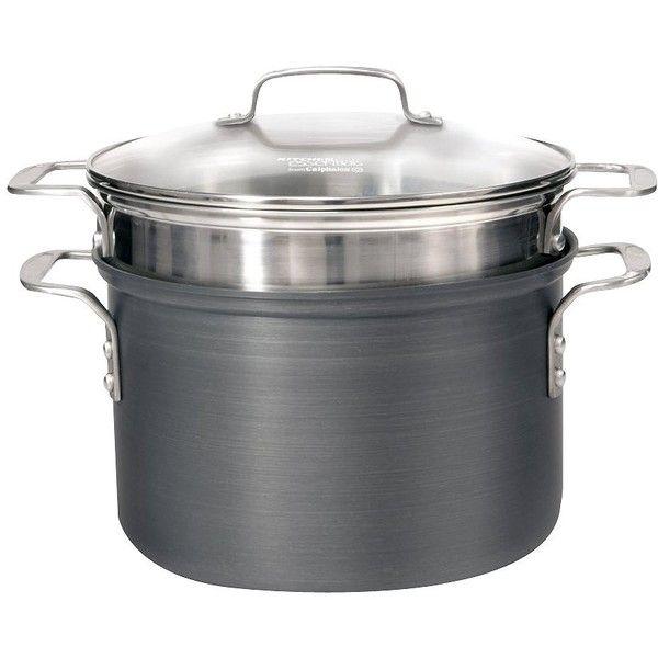 calphalon kitchen essentials dutch oven best aid mixer 8qt hard anodized pasta pot set 70 via polyvore featuring home