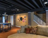 How To Paint Basement Ceiling Enchanting Of Unusual ...