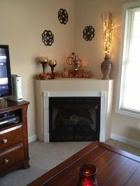 Image result for how to decorate a deep corner fireplace ...