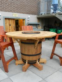 Wine Barrel Table, my husband just finished making! | For ...