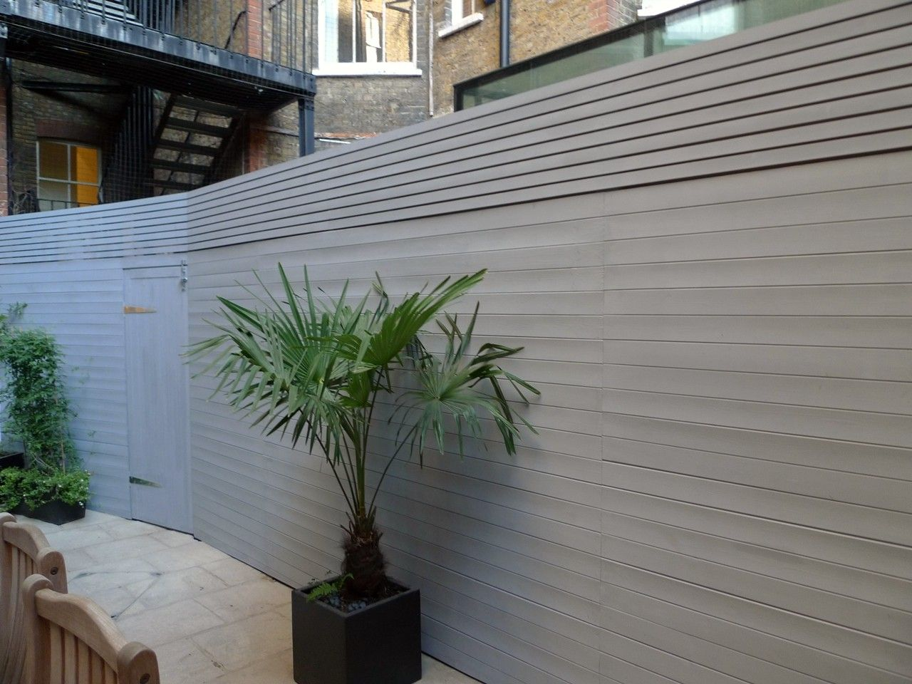 Bespoke Modern Grey Fence Screen Trellis London JPG Fence