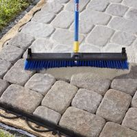 Sweeping Polymeric Sand into Paver Joints. | DIY ...